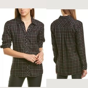 New..Michael Stars Boyfriend Flannel Shirt